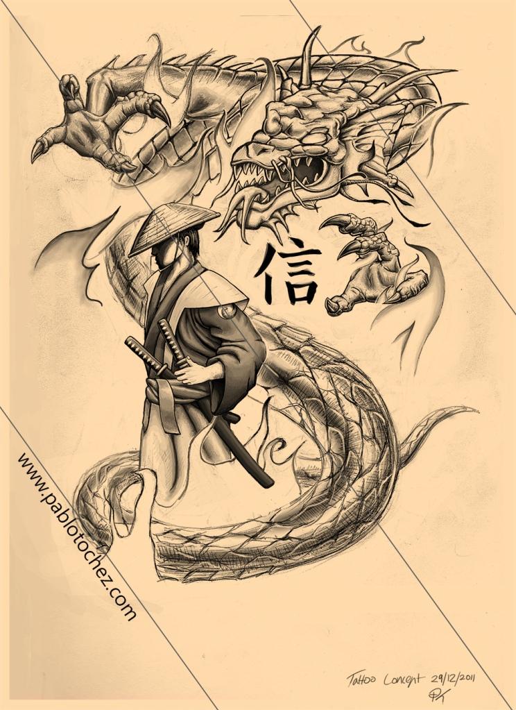dragon with samuraiDragon Samurai